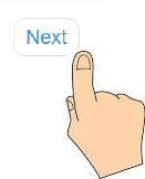 Picture of a finger selecting the Next button